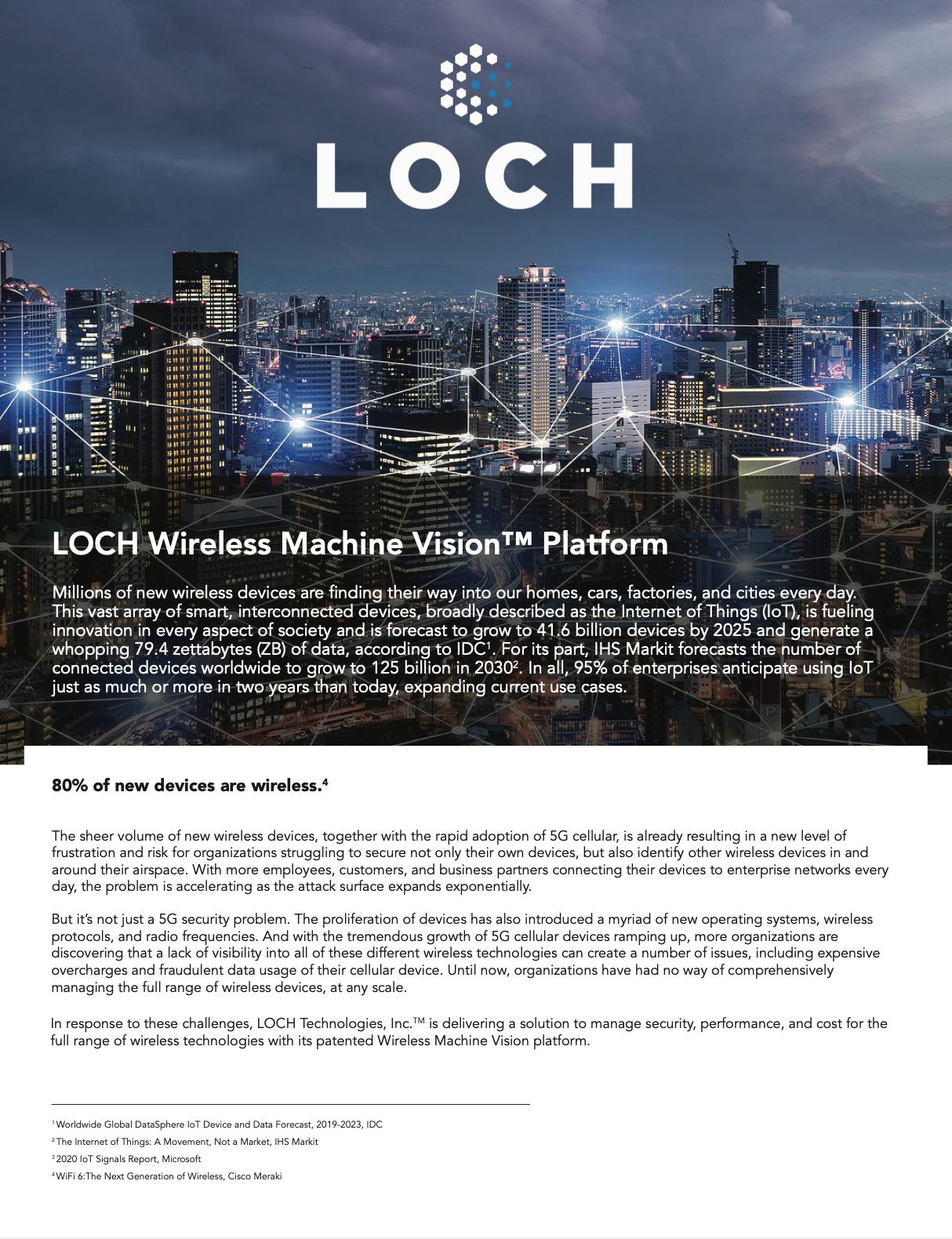 LOCH Wireless Machine Vision™ Platform